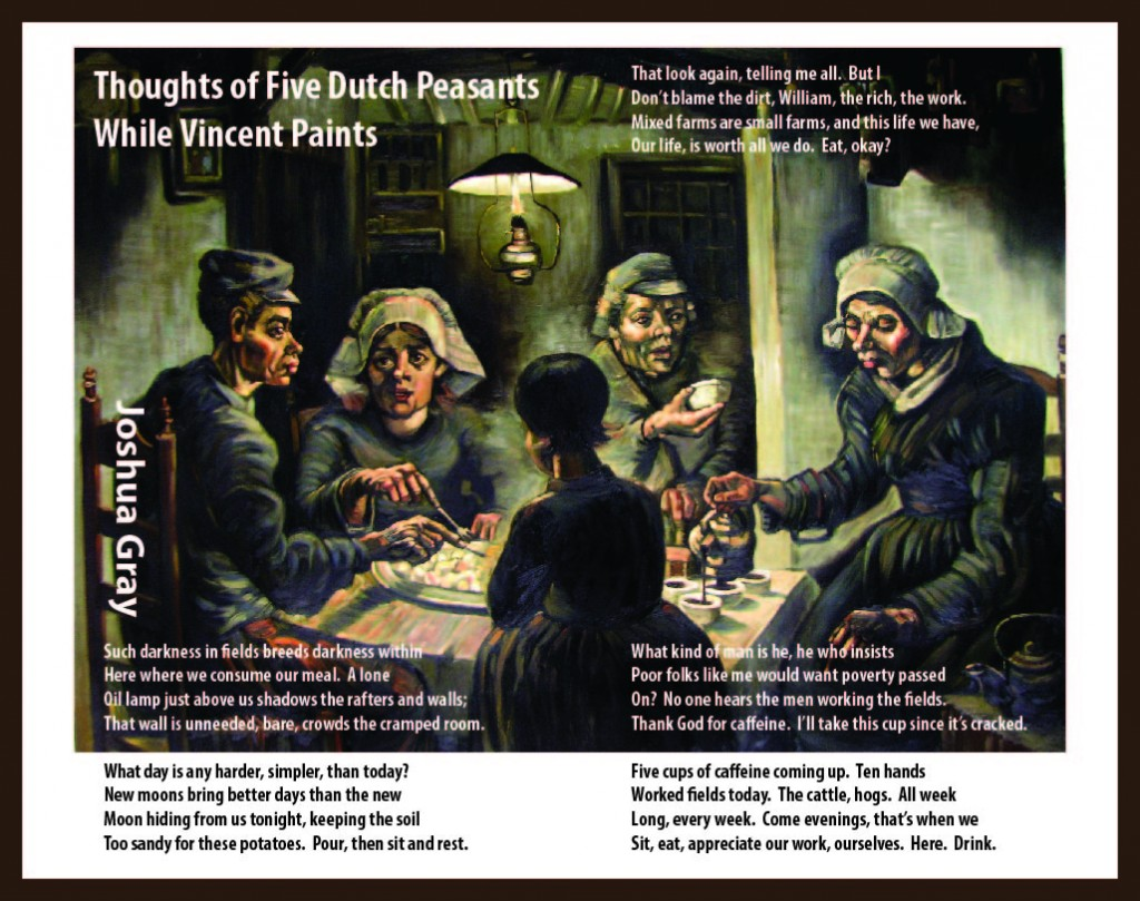 Potato Eaters broadside by Joshua Gray