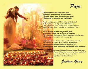 Puja broadside by Joshua Gray